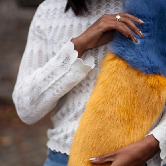 NWOT Zara Faux Fur Fluffy Stole